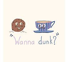 Wanna dunk? Photographic Print