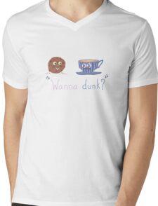 Wanna dunk? Mens V-Neck T-Shirt