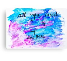 Inspirational abstract water color background Canvas Print