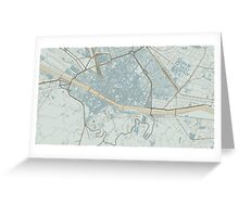 Firenze Map (Winter) Greeting Card