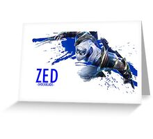 League of Legends - Zed Greeting Card