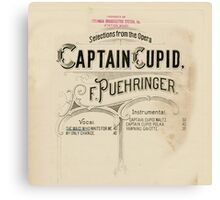 Captain Cupid Canvas Print