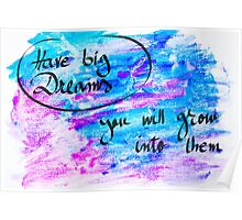 Inspirational abstract water color background Poster