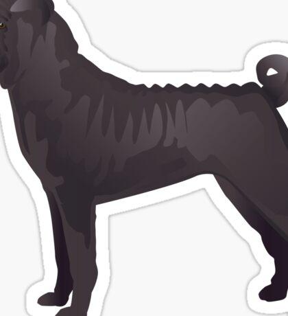 Chinese Shar-Pei Basic Breed Silhouette Sticker