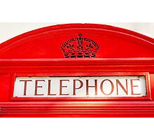 BT Telephone booth Photographic Print