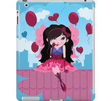 Cute cartoon love fairy with hearts and balloons iPad Case/Skin
