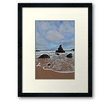 White Clouds above Sango Bay Framed Print