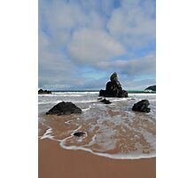 White Clouds above Sango Bay Photographic Print