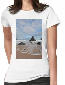 White Clouds above Sango Bay Womens Fitted T-Shirt