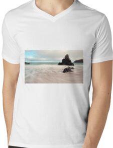 Long exposure on Sango Bay Mens V-Neck T-Shirt