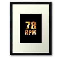78 RPM  Vinyl Framed Print