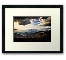 cloudy sky on italian mountains Framed Print