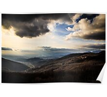 cloudy sky on italian mountains Poster