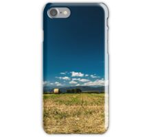 hay bale in the fields of italy iPhone Case/Skin