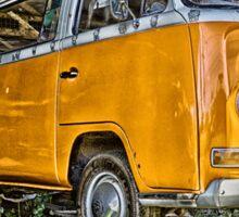 HDR Orange Volkswagen mini van Sticker