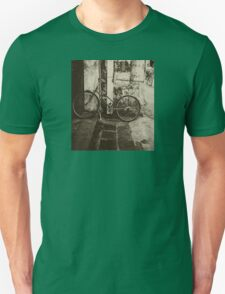 Old bicycle on the street Unisex T-Shirt