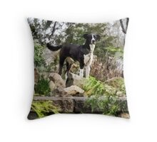Terrier Standing Guard Throw Pillow