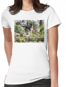 Terrier Standing Guard Womens Fitted T-Shirt