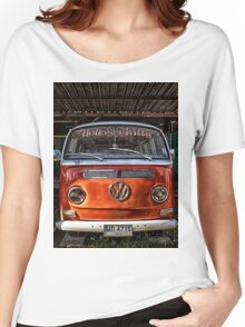 HDR Orange Volkswagen mini van Women's Relaxed Fit T-Shirt