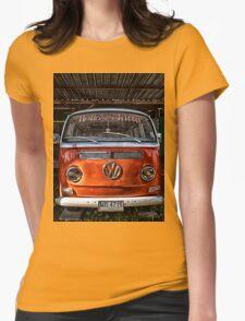 HDR Orange Volkswagen mini van Womens Fitted T-Shirt