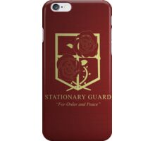 Stationary Guard iPhone Case/Skin