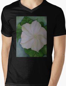 Moon Flower Mens V-Neck T-Shirt