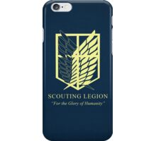 scouting legion,Attack On Titan iPhone Case/Skin