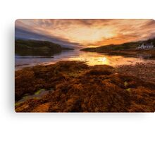 Sunset at Loch Kirkaig Canvas Print