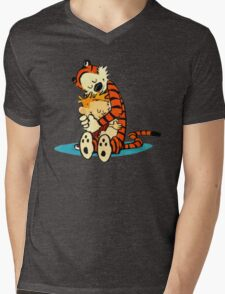 Calvin & Hobbes Mens V-Neck T-Shirt