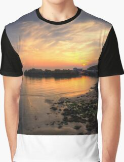 Portpatrick Harbour at Sunset Graphic T-Shirt