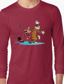 Calvin and Hobbes Dance Long Sleeve T-Shirt