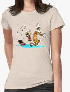 Calvin and Hobbes Dance Womens Fitted T-Shirt