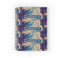 Hollywood road sign Spiral Notebook