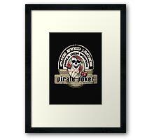 pirate poker Framed Print