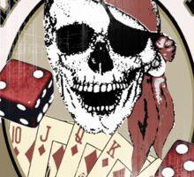 pirate poker Sticker
