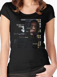 Elliot Alderson - Mr Robot Women's Fitted Scoop T-Shirt