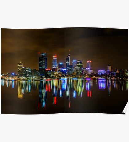 Perth At Night Poster