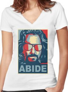 The Dude Abides (The Big Lebowski) Women's Fitted V-Neck T-Shirt