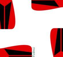 RED FOX PATTERN Sticker