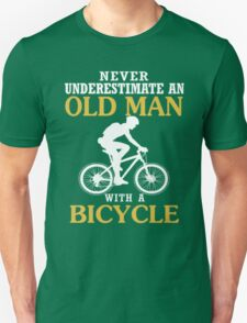 Never Underestimate An Old Man With Bicycle T-Shirt