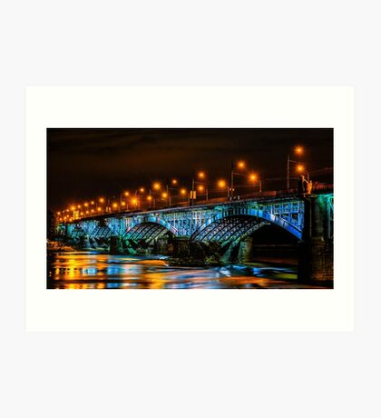 Poniatowski Bridge Art Print