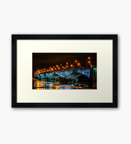 Poniatowski Bridge Framed Print
