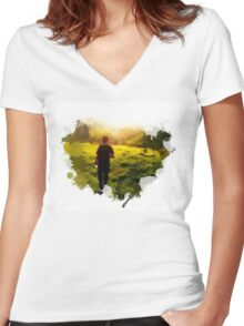 Blurriness Women's Fitted V-Neck T-Shirt