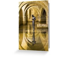The Crypt Winchester Cathedral Greeting Card