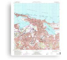 USGS TOPO Map Puerto Rico PR San Juan 362267 1969 20000 Canvas Print