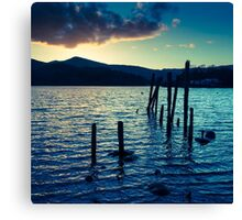 Old Pier Derwentwater, Borrowdale, Lake District, Cumbria. Canvas Print