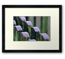 Old Fences; No Borders Anymore. Framed Print