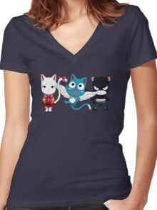 Fairy tail - Kawaii team Women's Fitted V-Neck T-Shirt