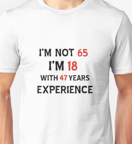 65th year old designs Unisex T-Shirt