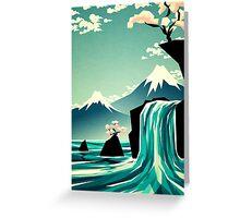Waterfall blossom dream Greeting Card